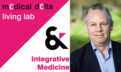 Links: logo medical delta living lab. Rechts: foto Erik Baars