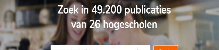 Homepage HBO Kennisbank: zoek in 49.200 publicaties van 26 hogescholen.