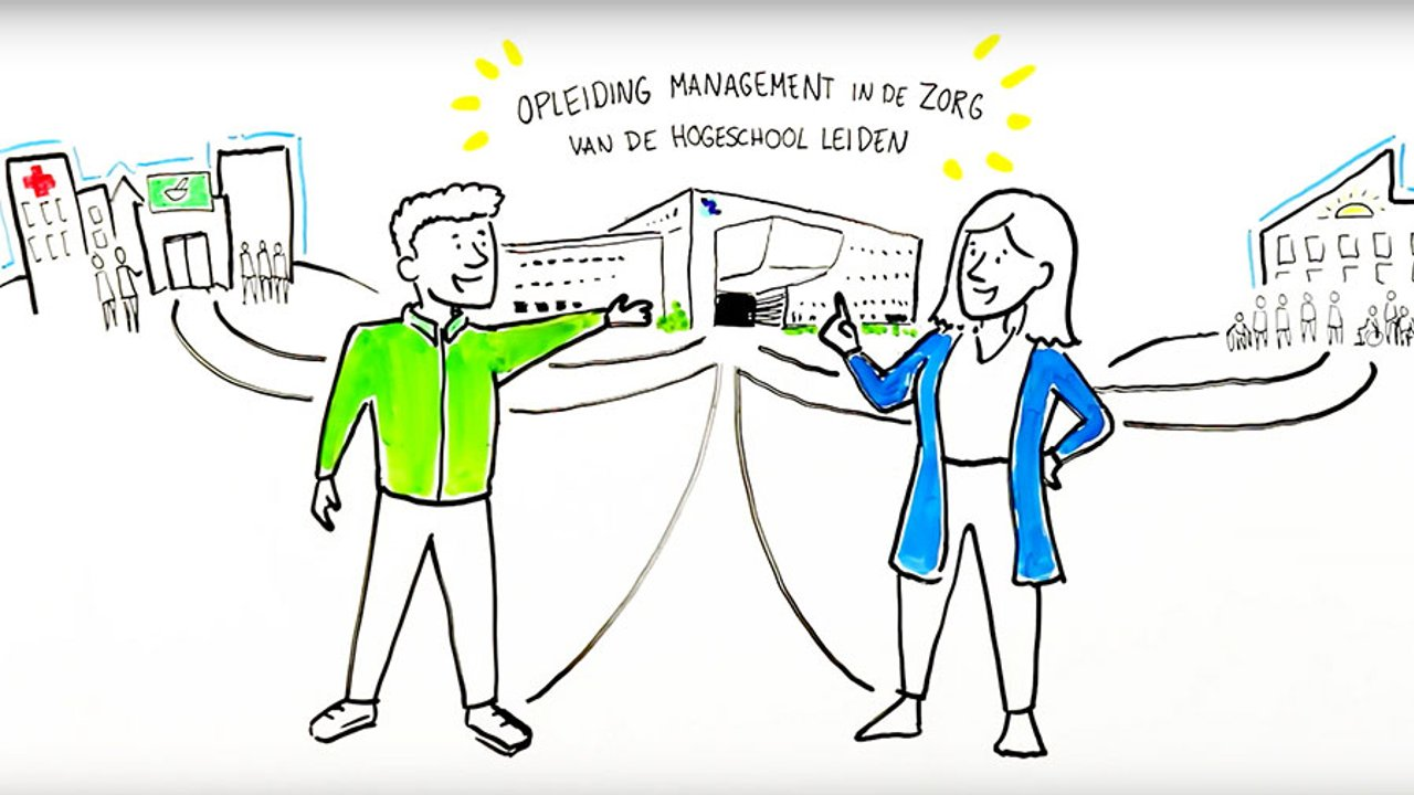 Beeld uit video over de opleiding Management in de Zorg