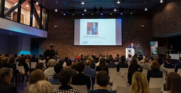 Welkom door Sander van den Eijnden, voorzitter College van Bestuur Hogeschool Leiden