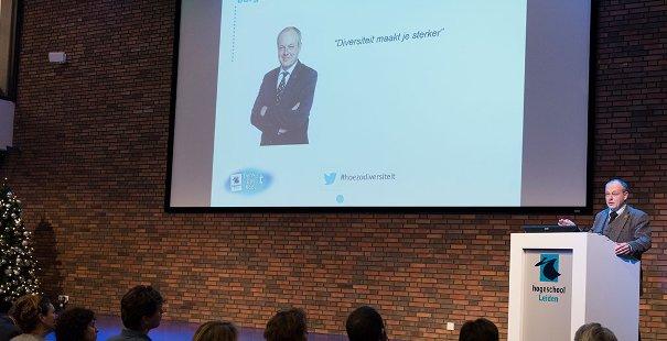 Keynote door burgemeester van Leiden Henri J.J. Lenferink